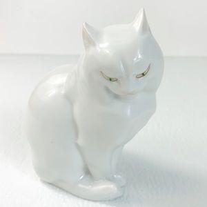 Herend Porcelain Hungarian Signature Cat Figurine
